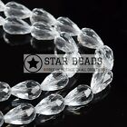 FACETED TEARDROP CRYSTAL GLASS BEADS CRYSTAL - 5X7 8X11 10X15 12X18MM