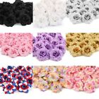 Home Garden - 50Pcs Artificial Fake Rose Silk Flower Head Wedding Party Home Garden Decor US