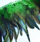 "Yrb07 - Lime Green (4""-8"" Wide) Rooster Feather Fringe Trim Facinator Material"