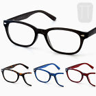 Rimmed Retro READING GLASSES & Pouch Case - BLACK, Blue, Red 1.0+1.5+2+2.50+3.00
