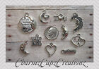 10pc Silver I Love You to the Moon and Back Charm Set Lot Collection / Jewelry