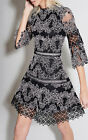 Editor's pick Alexis Karina lace Dress Party Holiday Black White Embroidery xs