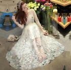 Women Embroidery Butterfly Chiffon Maxi Formal Prom Ball Gown Bridesmaid Dress