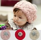Baby Knitted Crochet Beanie Hat Cap Infant Girls Unisex Bonnet Stylish Winter PL