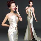 Champagne New Formal Wedding Prom Party Bridesmaid Evening Ball Gown Dress L522