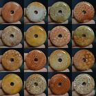 "45mm Coral fossil donut pendant bead 1.8""*each one pictured*"