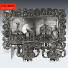ANTIQUE 20thC BURMESE SOLID SILVER SCULPTURAL TEA & COFFEE SET ON TRAY c.1903