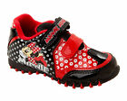 Girls SIZE 6 - 12 Black Red MINNIE MOUSE Touch Fastening Trainers JUBILEE