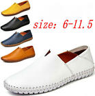 Men's Driving Casual Boat Shoes Leather Shoes Moccasin Slip On Loafers