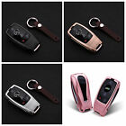 For Mercedes E Class Key Fob Cover Aircraft Aluminum Case Genuine Leather Chain
