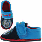 Boys Blue THOMAS THE TANK ENGINE Touch Fastening Slippers Size 5,8,9