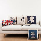 "British Style Sherlock Holmes Decor Pillow Case Cushion Cover Square 18"" PQ225"