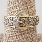 1/2 ct tw Fancy Diamond Buckle Ring 14k Yellow Gold