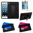 Heavy Duty Hybrid Shockproof Hard Case Cover Stand for Apple iPad Mini 4 + Film