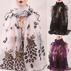 Fashion Women Peacock Scarf Long Soft Scarf Wrap Scarves Vintage Beauty Shawl