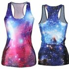 Starry Sky Tank Tops Women Casual Sleeveless Summer Vest Fashion Shirt Lady