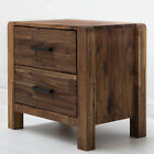 Wooden Bedside Table Cabinet Modern Country Style Handmade Solid Wood