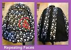 Volcom Big Youth Equator 2 Backpack Repeating Faces Pattern New w/ Tags MSRP $42