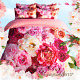 Love In Roses Single/Queen/King Size Bed Quilt/Doona/Duvet Cover Set 100% Cotton