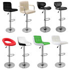 2 Bar Stools Faux Leather Barstool Kitchen Pub Stool Breakfast Bar Chair UK