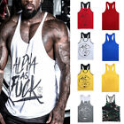 Men's Tank Top T-Shirt Muscle Camo Tee Bodybuilding Sports Fitness Gym Vests image
