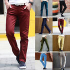 Mens Casual Sports Stretch Slim Fit Straight Skinny Solid Track Pants Sweatpants