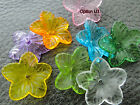 17mm 40/100/150pcs CLEAR ASSORTED COLORS ACRYLIC FLOWER BEADS CM1314