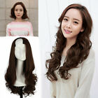Lady Long Daily Costume Hair U Part Style 3/4 Wig Beauty Black/Brown Curly Hair