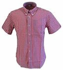 Warrior Red Gingham 100% Cotton Short Sleeved Shirts Small to 5Xlarge