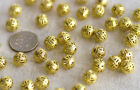 Solid Raw Brass Filigree Hollow Ball Spacer Beading  b39