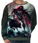 Spear Warrior Next To Black Wolf Men's Long Sleeve Sweatshirts wa5 aam43839