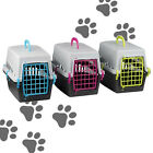 PLASTIC PET CARRIER CAGE CRATE BASKET DOG CAT RABBIT TRAVEL KENNEL CARRY