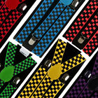 Mens Adults Retro Chequered BRACES Suspenders Fancy Dress Punk Squares Ska NEW