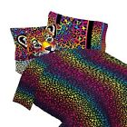 nEw LEOPARD PRINT BED SHEET SET - Lisa Frank Wild Side Cheetah Animal Bedding