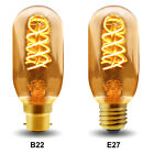 Vintage LED 4W Edison Style T45 Teardrop Spiral Filament Light Bulb B22 or E27