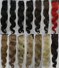 """New Womens 18""""~22"""" Remy Body Wavy Weft Human Hair Extensions Wave 100g Width 59"""""""