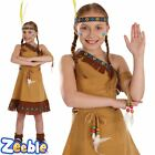 Girls Red Indian Costume Pocahontas Kids Fancy Dress Outfit Book Week