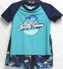 Внешний вид - *NEW* Tommy Bahama Kids Boy's 2 Piece Rash Guard Shorts Swim Set