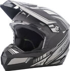 Gmax MX46 Uncle Off Road Motorcycle Helmet Flat Black/Silver Adult All Sizes