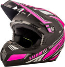 Gmax MX46 Uncle Off Road Motorcycle Helmet Flat Black/Pink Adult All Sizes