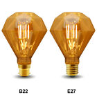 Vintage Classic LED 4W Edison Style Diamond Shape Filament Light Bulb B22 or E27