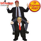 K358 Donald Trump Carry Ride On Mr President Funny Mens Piggy Back Costume Mask