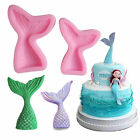 Silicone Mermaid Tail Fondant Mold Cake Decorating Chocolate Candy Mould Tools
