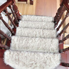New Stair Mat Fluffy Stair Treads Carpet Anti-Slip Step Rug Pad Home Decor 1PC