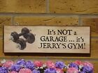 GYM SIGN WEIGHTS DUMBELLS FITNESS SIGN HOME GYM SIGN PERSONALISED SIGNS TO ORDER