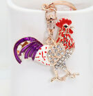 Delicate rooster Key chain Oil droplets fashion animal key chain crystal k228