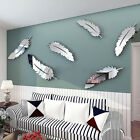 New Removable Home Mirror Wall Stickers Decal Art Vinyl Room Decor DIY Feather