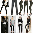 Women Sexy Punk High Waist Stretchy Faux Leather Tight Legging Pants Skinny Hot