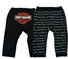 Harley-Davidson® Baby Boys Reversible Bar & Shield Black Pants Bottoms S9LBI64HD
