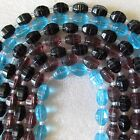 3 Strand Crystal Barrel Glass Beads Faceted 63pcs 18mm x 11mm Crafts & Jewellery